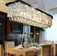 whole rectangular crystal chandelier modern minimalist restaurant dining bar table lamp living room lamp lighting 0702c from china dhgate