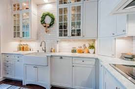 white country kitchen cabinets. Fine Kitchen Crown Green Complete The Atmosphere Traditional White Country Kitchen  15  Cool Interior Design Ideas Inside White Country Kitchen Cabinets