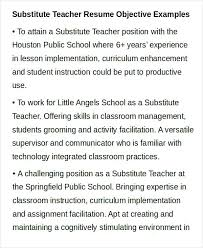 Substitute Teacher On Resume Substitute Teaching Resume Resume For