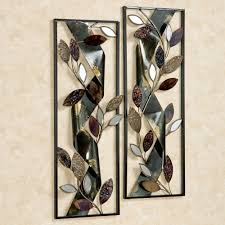 autumn whisper metal wall art panels black set of two touch to zoom