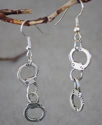 20pair hot fashion vine silver handcuff perfect law enforcement charm drop dangle earring women jewelry gift