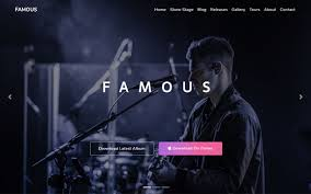 Music Website Templates Mesmerizing Famous One Page Music Band Template WrapBootstrap