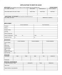 Tenant Rental Application Form Beadesigner Co