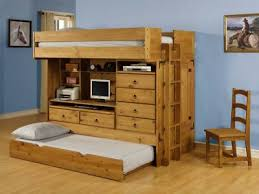 Bedroom Excellent White Wooden Bunk Beds With Storage