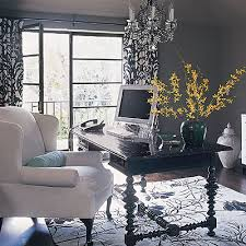 grays office. chic gray office with charcoal walls black colonial desk upholstered wing back chair crystal chandelier damask drapes panels and grays u