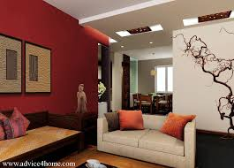 contemporary paint ideas for living room. paint living room, white false pop ceiling and red wall accent design in contemporary room ideas for i