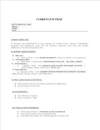 Fresher Resume Mba Templates At Allbusinesstemplatescom