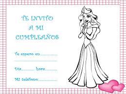 tarjetas de cumplea os para ni as de cumpleaños con dibujos para imprimir de princesas