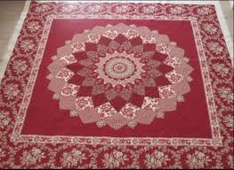 73 best Giant Dahlia quilts images on Pinterest | Patchwork ... & Red Dahlia Quilting by Bec Bartell. Adamdwight.com