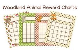 Woodland Forest Animal Incentive Reward Charts Fox Included 4 Designs