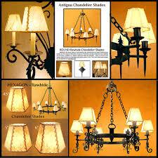 rawhide chandelier shade