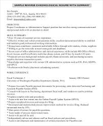 Chronological Resume Template 40 Free Word PDF Documents Amazing Reverse Chronological Resume