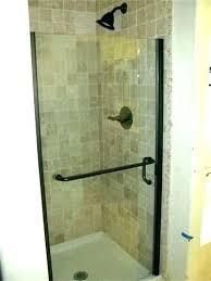 frameless sliding shower door leak shower