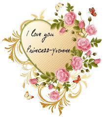 princess i love you roses photo