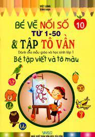Hình ảnh của - Bé tập viết và tô màu dành cho mẫu giáo và học sinh lớp 1 -  Tập 10: Bé vẽ nối số từ 1-50 & tập tô vần