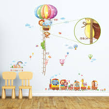 Animal Train Height Chart Wall Stickers 1606n1406a