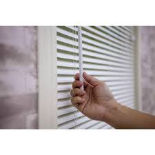 Light Filtering Vs Room Darkening Mini Blinds Yow White 1 In Light Filtering Vinyl Blind 43 In W X 64
