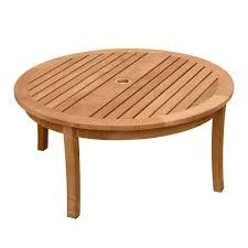teak wood coffee table seneca round