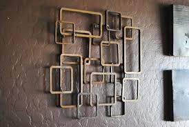 retro modern metal sculpture art