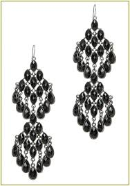 black chandelier earrings black alloy jet crystal rhinestone chandelier drop dangle earrings