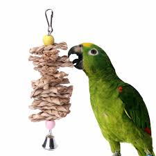bird parrot toys natural wooden gr chewing bite hanging cage accessories bell swing climb chew toys bird supplies c42 grt bird cages handmade bird cages