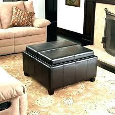 round storage ottoman coffee table black s large