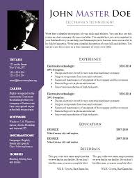 Cv resume template doc