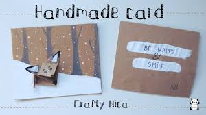 handmade love card with an origami fox diy gifts for boyfriend easy you