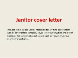 Janitor Cover Letter