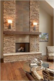 mixed stone metal and wood