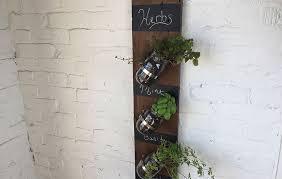 indoor hanging herb garden