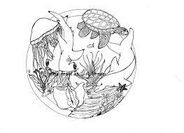 Stampabili Da Colorare Delfini E Tartarughe E Squali Oh Etsy