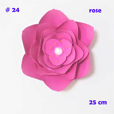 Paper Flower Video 15cm 45cm Cardstock Rose Diy Paper Flowers Easy Wedding Event Backdrops Decorations Baby Nursery Wall Decor Video Tutorials