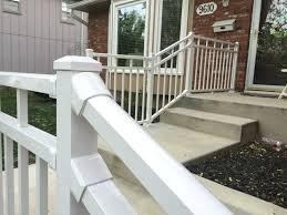 porch rail photo of artisan deck and porch mo united states gloss white diy porch rail
