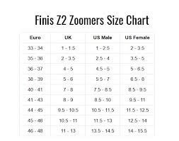 Finis Zoomer Z2 Gold Fins Size Chart Finis Z2 Gold Zoomers