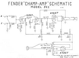 fender amp schematics fender champ 5e1 schematic