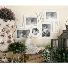 litton lane 5 openings assorted vintage white love picture frame collage