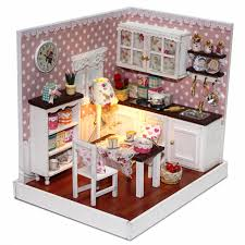 mini doll house furniture. aliexpresscom buy novelty miniature diy wood doll house kitchen model play toys with assembling mini furniture movement decor from reliable e