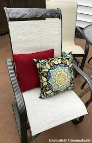 outdoor makeover how to replace patio furniture slings