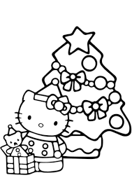 Hello Kitty Christmas Coloring Page Free Printable Pages