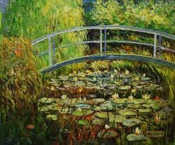 hand painted water lily pond claude monet painting reion oil canvas painting wall art picture painting
