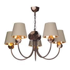 shard modern multi arm ceiling pendant fitting in copper finish sha0564