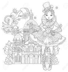 Parisvector 線図に素敵なドレスでかわいい妖精ゴシック ロリータ少女をベクトルしますはがき印刷や大人の塗