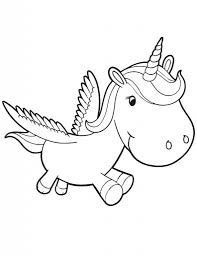 Unicorn Coloring Pages For Kids Az Coloring Pages within Cute ...