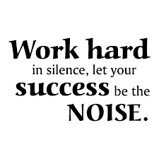Work Hard Quotes Interesting Work Hard In Silence Wall Quotes™ Decal WallQuotes