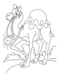Small Picture Walking arabian camel coloring page Download Free Walking