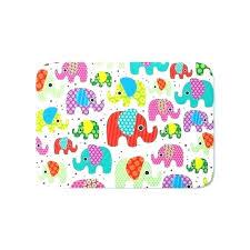 kids bath mat colorful elephant ilration pattern mats non slip bathroom rugs for star wars shower