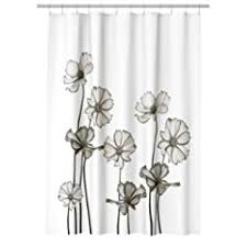 black and white flower shower curtain. #2 water repellent fabric shower curtain flowers print black and white flower