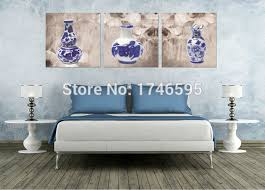 blue and white porcelain wall art
