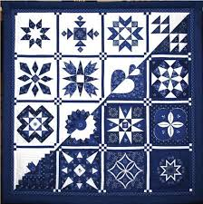Blue and White Quilts from Hungary - Quilt Shows & Collected Pieces of Small Size(Positive Negative) by Jozsefne Bekesi Adamdwight.com